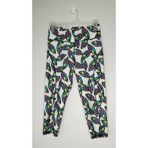 Activewear Pants Pull On Colorful Crop Leggings
